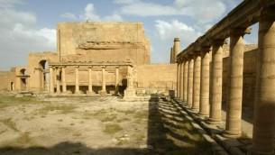 مدينة الحضر الأثرية في شمال العراق، 21 ابريل 2003 (AFP PHOTO/ PHILIPPE DESMAZES)