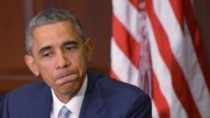 الرئيس الأمريكي باراك أوباما في واشنطن العاصمة، 1 ديسمبر، 2014. (AFP/Mandel Ngan)