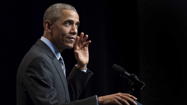 الرئيس الأمريكي باراك أوباما خلال خطاب في واشنطن، 9 مارس 2015 JIM WATSON / AFP