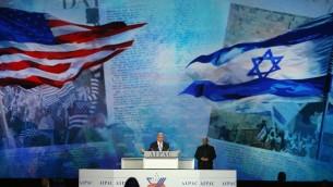 ئيس الوزراء الاسرائيلي بنيامين نتنياهو يتحدث خلال اجتماع لجنة الشؤون العامة الامريكية الاسرائيلية (ايباك) 2015 في 2 مارس 2015  واشنطن  Mark Wilson/Getty Images/AFP