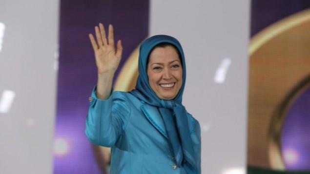 مريم رجوي رئيسة المجلس الوطني للمقاومة الايرانية وفصيله الرئيسي حركة مجاهدي خلق (Apa Iceurope, CC-BY-2.0, Flickr)