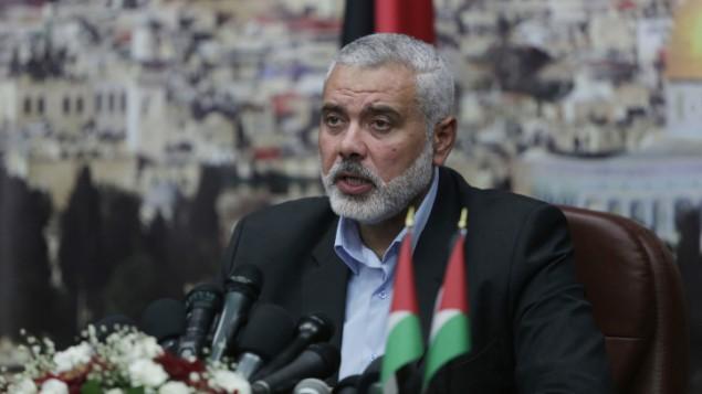 نائب رئيس المكتب السياسي لحركة حماس إسماعيل هنية، غزة، 2 يونيو 2014 ( Wissam Nassar/FLASH90)