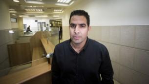 ميني نفتالي، مدير منزل نتنياهو سابقا، في محكمة العمل في القدس، 25 مارس 2015 (Yonatan Sindel/Flash90)