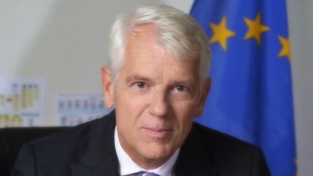 سفير الإتحاد الأوروبي في إسرائيل لارس فابوغ أندرسن. (Yossi Zwecker)