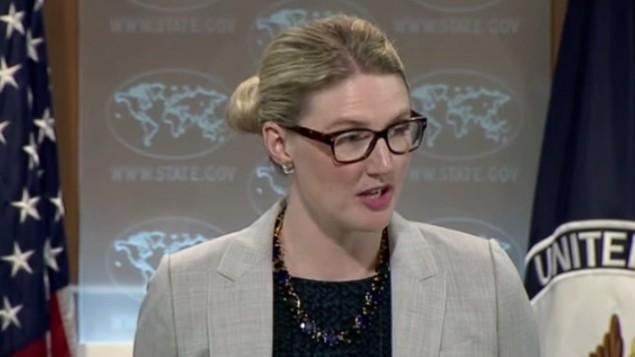 نائبة المتحدث بلسان الخارجية الامريكية ماري هارف (صورة شاشة)
