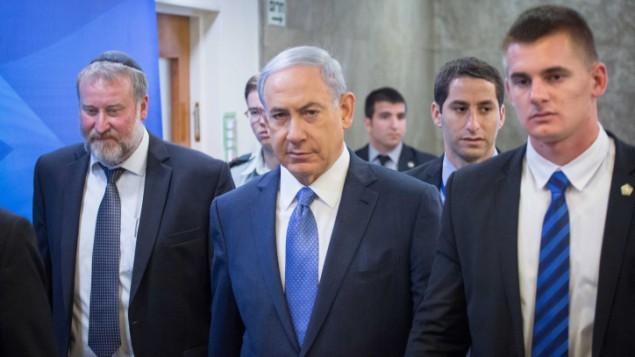 رئيس الوزراء الاسرائيلي بنيامين نتنياهو في القدس 29 مارس 2015  Emil Salman/POOL