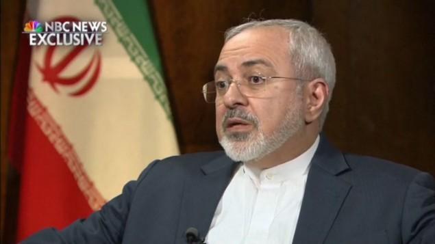 محمد جواد ظريف March 4, 2015 (NBC screenshot)