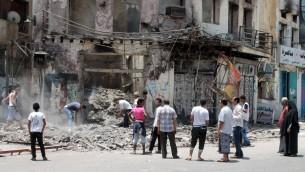 مدينة عدن في اليمن، 5 ابريل 2015 (SALEH AL-OBEIDI / AFP)