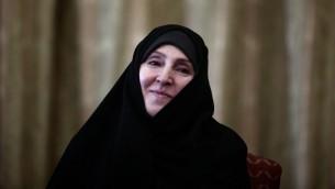 صورة ارشيف للناطقة باسم وزارة الخارجية الإيرانية مرضية افخم في طهران، 1 سبتمبر 2013 (BEHROUZ MEHRI / AFP)