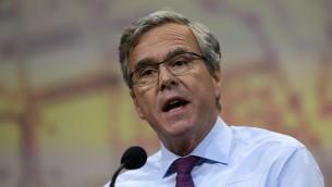 حاكم فلوريدا السابق والمرشح الجمهوري الأول المتوقع للرئاسة جيب بوش، 10 ابريل 2015 (Justin Sullivan/Getty Images/AFP)
