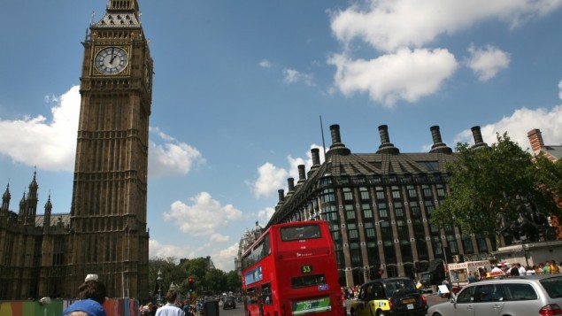 صورة توضيحية: بيغ بن والبرلمان البريطاني في لندن. (Yossi Zamir/Flash90)