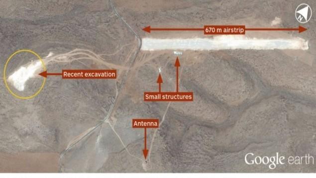 صورة أقمار إصطناعية تُظهر ما يُقال أنه مدرج طائرات شرقي لبنان يُعتقد بأنه يتم استخدامه لطائرات بدون طيار إيرانية الصنع. ( Jane's/Google Earth)