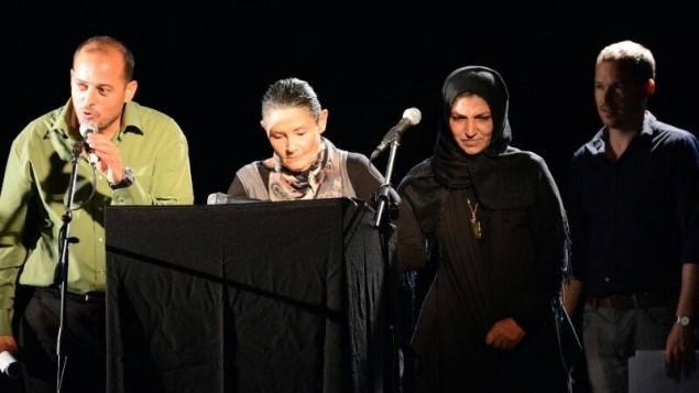 صورة من احياء الذكرة المشترك في العام الماضي, من صقحة محاربون من اجل السلام (لةحاميم لشالوم)