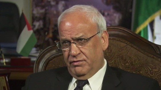 كبير المفاوضين الفلسطينيين صائب عريقات (لقطة من YouTube)