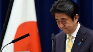 رئيس الوزراء الياباني شينزو ابي، 15 مايو 2015 (TOSHIFUMI KITAMURA / AFP)