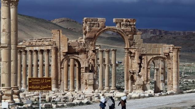 (ارشيف) مدينة تدمر الأثرية، 14 مرس 2014 (AFP/JOSEPH EID)