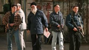 (ارشيف) الحاخام موشيه ليفنجر الذي اسس حركة الاستيطان الإسرائيلية، 20 يناير 1996 (SVEN NACKSTRAND / AFP)