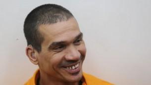 زعيم  المنظمة الإجرامية يتسحاق ابرجيل في المحكمة في 20 مايو، 2014. ( FLASH90)