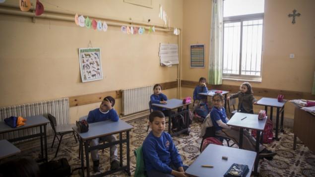 صورة توضيحية لطلاب في الصف (Hadas Parush/Flash90)