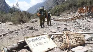 فريق بحث واغاثة اسرائيلي في النيبال (IDF Spokesman's Unit)