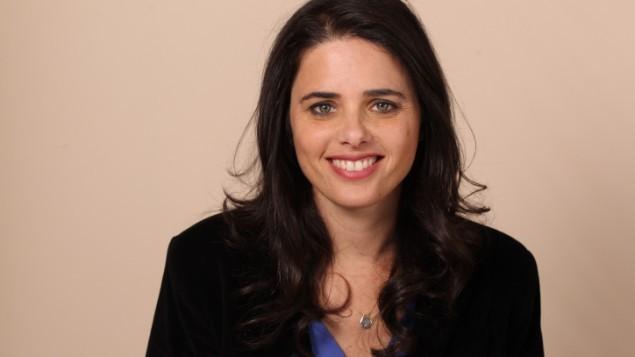 """عضو الكنيست أييليت شاكيد من حزب """"البيت اليهودي""""، 3 فبراير، 2013. (Flash90)"""