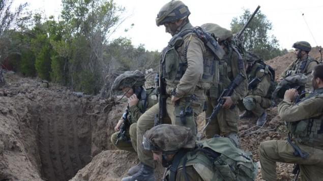 صورة توضيحية لفتحة نفق تم اكتشافها على أيدي قوات الجيش الإسرائيلي في غزة، 20 يوليو، 2014. (الجيش الإسرائيلي)