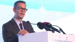 مستشار الامن القومي كولن كال خلال خطاب في منتدى الدوحة، 1 يونيو 2015 (AFP )
