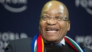 رئيس جنوب افريقيا خلال المنتدى الاقتصادي العالمي في كايب تاون، 5 يونيو 2015 (RODGER BOSCH / AFP)