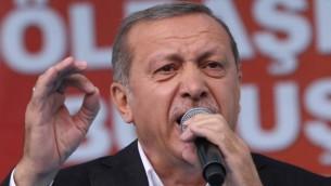 الرئيس التركي رجب طيب اردوغان خلال خطاب في انقرة، 5 يونيو 2015 (AFP/Adem Altan)