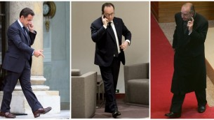 صورة مركبة للرؤساء الفرنسيين نيكولا ساركوزي، فرانسوا هولاند وجاك شيراك (AFP)