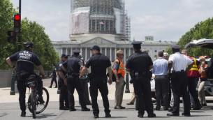 صورة توضيحية للشرطة في الولايات المتحدة (SAUL LOEB / AFP)