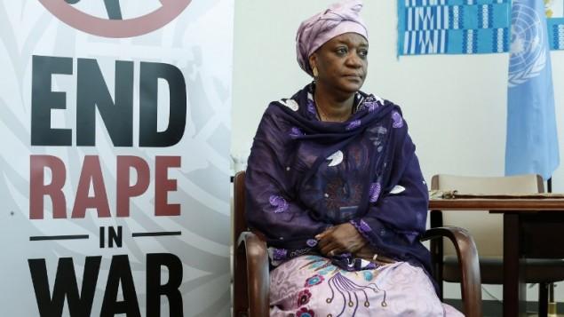 زينب بانغورا، مبعوثة الامم المتحدة لشؤون العنف الجنسي، خلال مقابلة مع وكالة فرانس برس في مقر الأمم المتحدة في نيويورك، 8 يونيو 2015 (KENA BETANCUR / AFP)