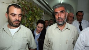 الشيخ كمال خطيب من الحركة الإسلامية في اسرائيل في محكمة في القدس، 4 اكتوبر 2009 (Matanya Tausig/Flash90)