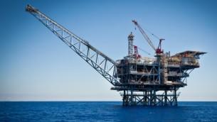 """حقل الغاز الطبيعي """"تامار"""" قبالة ساحل أشكلون (Moshe Shai/FLASH90)"""