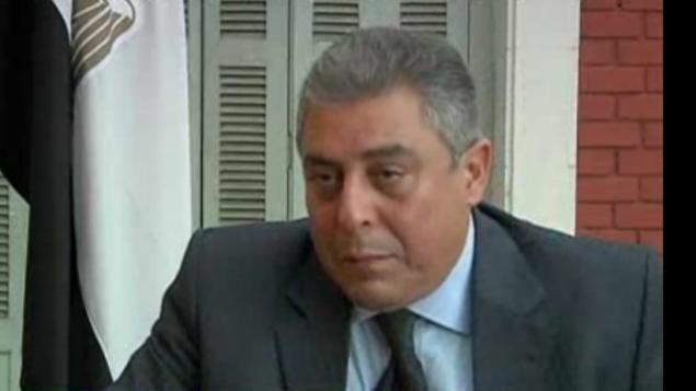 السفير المصري الجديد في اسرائيل حزمت خيرت (YouTube screenshot)