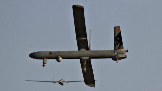 صورة توضيحية لطائرة مسيرة، يونيو 2010. (Ofer Zidon/Flash90)