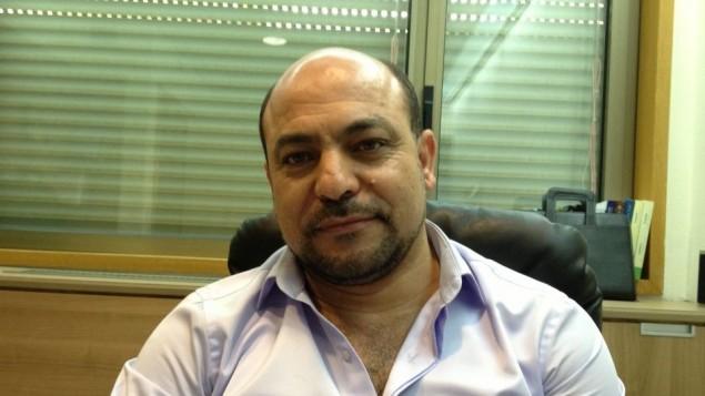 النائب مسعود غنيم، 10 مارس 2014 (Elhanan Miller/Times of Israel)