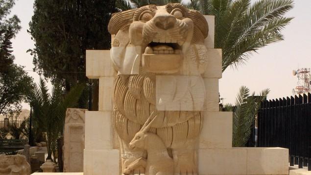 تمثال الأسد في حديقة متحف مدينة تدمر (Wikipedia)