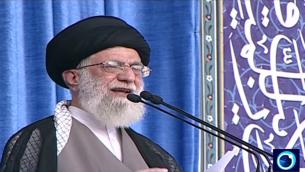 آية الله علي خامنئي يخطب في طهران، 18 يوليو 2015 (Iran Press TV screenshot)