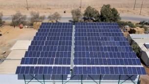 مشروع طاقة شمسية في النقب (Photo credit: Courtesy)