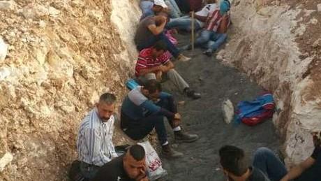 حوالي 120 فلسطيني حاولوا دخول إسرائيل بصورة غير شرعية. (الشرطة الإسرائيلية)