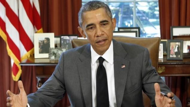 الرئيس الأمريكي باراك أوباما يتحدث مع الصحافة في البيت الأبيض، 31 يوليو 2015 (AFP PHOTO/YURI GRIPAS)