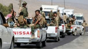 صورة توضيحية لقوات البشمركة الكردية بالقرب من مدينة الموصل شمال العراق، 17 اغسطس 2014 (AFP/Ahmad al-Rubaye)