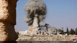 إنفجار في مدينة تدمر التاريخية في سوريا، الأحد، 23 أغسطس، 2015.