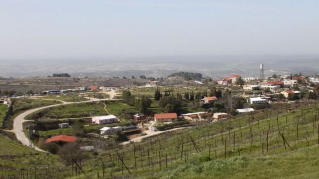 """صورة لمستوطنة """"بيت عاين"""" في الضفة الغربية ( Gershon Elinson/Flash90)"""