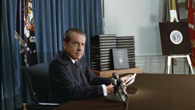 لبرئيس الأمريكي السابق ريتشارد نيكسون. (National Archives & Records Administration, public domain)