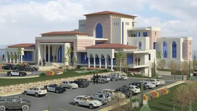 صورة شاشة  للقصر الرئاسي المخطط في رامالله