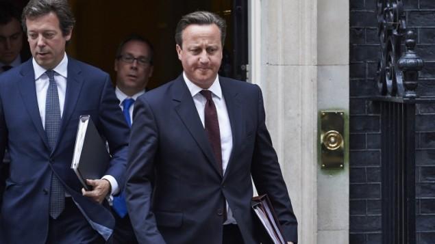 رئيس الوزراء البريطاني ديفيد كاميرون، 7 سبتمبر 2015 (NIKLAS HALLE'N / AFP)