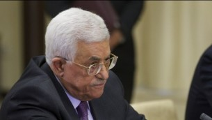 رئيس السلطة الفلسطينية محمود عباس، 22 سبتبمر، 2015. (AFP/POOL/IVAN SEKRETAREV)