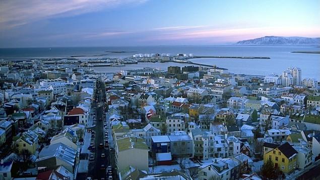 مدينة ريكيافيك، عاصمة ايسلندا (CC BY-SA 3.0 Andreas Tille/Wikipedia)